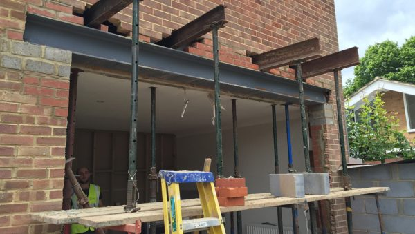 Rear Extension Steel Works