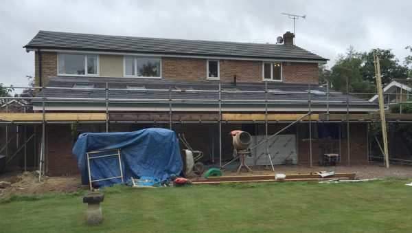 Rear Extension under construction